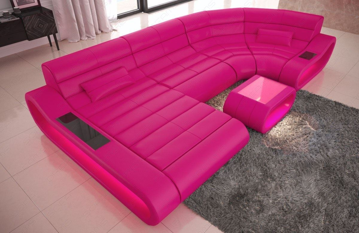 Picture of: Luxury Sectional Sofa Concept U Shape Design Couch Big Led Lights Ottoman Ebay