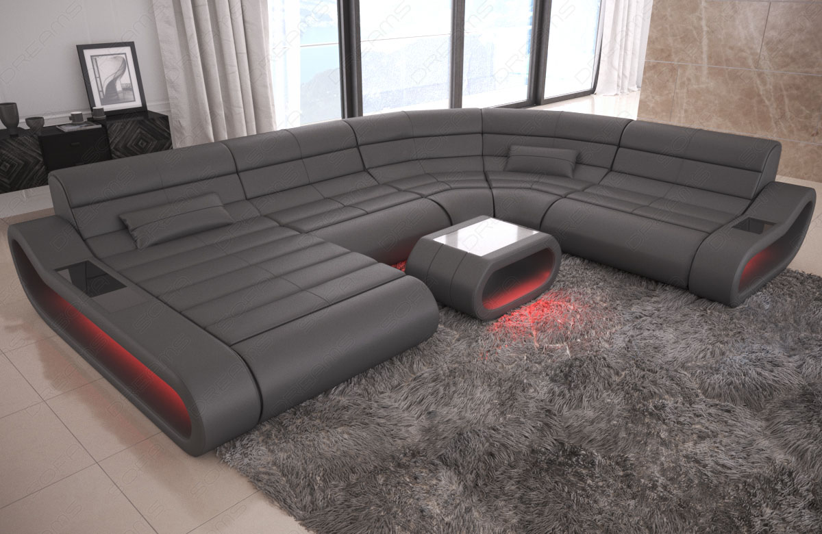 Luxury Sectional Sofa Concept XL Design Couch Big LED lights