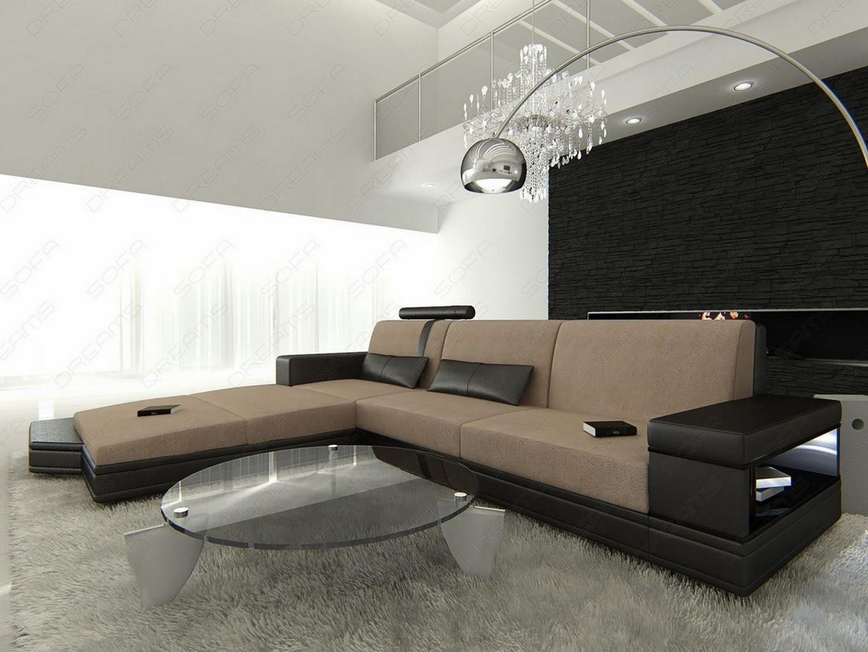 fabric sectional sofa messana l shaped with lights - colour, Moderne deko