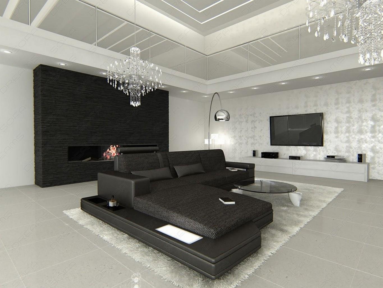 stoffcouch wohnlandschaft messana l form materialmix. Black Bedroom Furniture Sets. Home Design Ideas