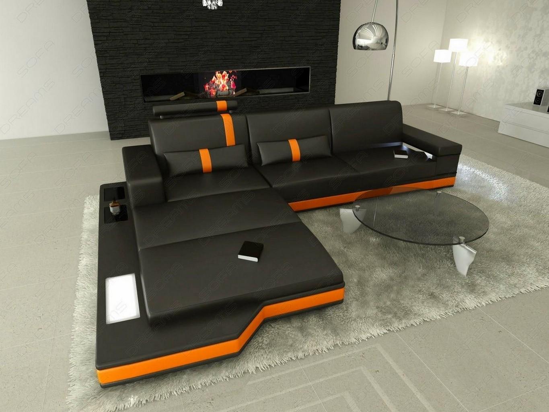 ledersofa messana l form designersofa polstersofa wohnlandschaft modern design ebay. Black Bedroom Furniture Sets. Home Design Ideas