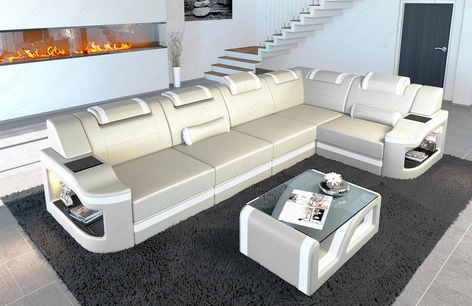 Leather Corner Sofa Manhattan L Shape