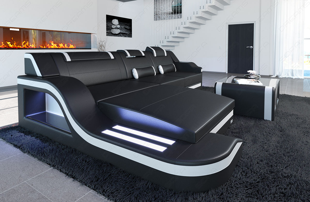 ledercouch palermo l form led designersofa eckcouch design. Black Bedroom Furniture Sets. Home Design Ideas