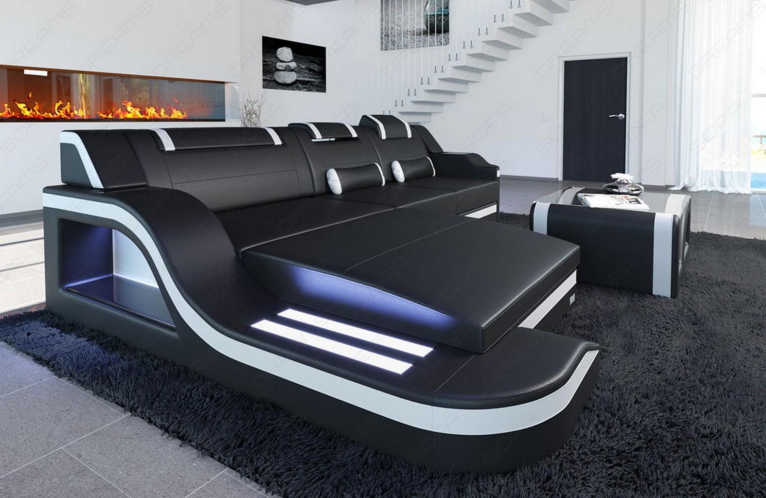 ledercouch palermo l form led designersofa eckcouch design bigsofa. Black Bedroom Furniture Sets. Home Design Ideas