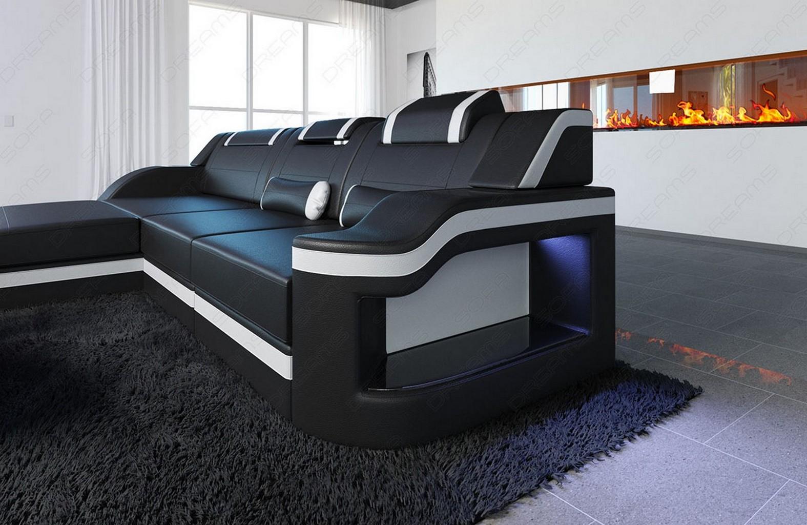 ledersofa schwarz wohndesign und inneneinrichtung. Black Bedroom Furniture Sets. Home Design Ideas