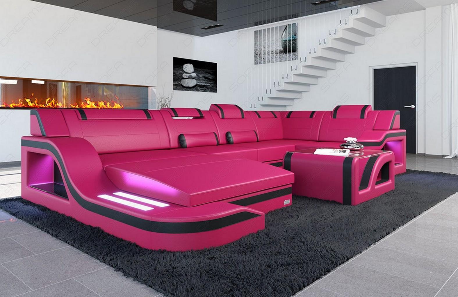 design leather sectional sofa palermo u shaped corner sofa. Black Bedroom Furniture Sets. Home Design Ideas