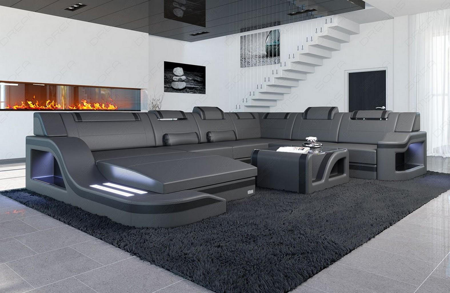 wohnlandschaft echtleder palermo xl luxus designercouch. Black Bedroom Furniture Sets. Home Design Ideas
