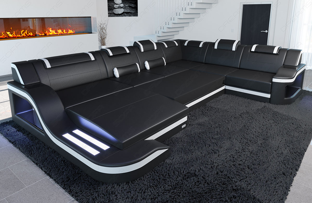 modular fabric sofa palermo xl sectional couch led. Black Bedroom Furniture Sets. Home Design Ideas