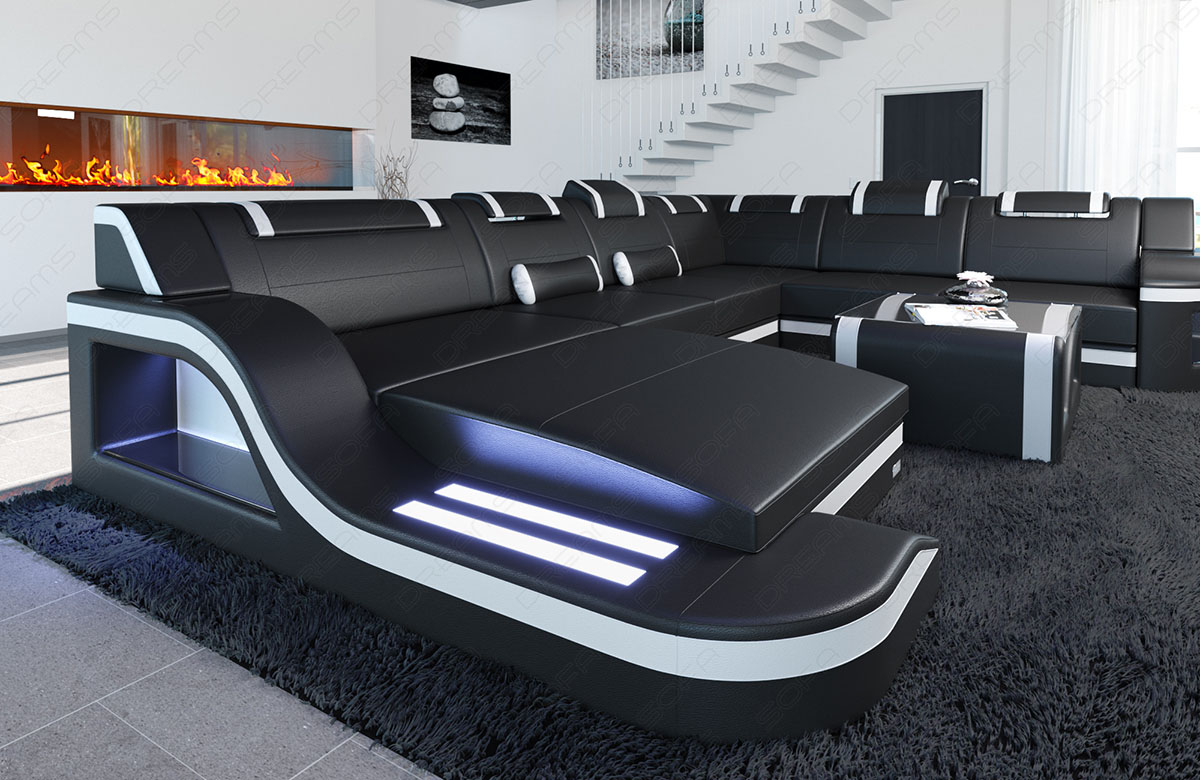 ecksofa design palermo xl wohnlandschaft leder. Black Bedroom Furniture Sets. Home Design Ideas