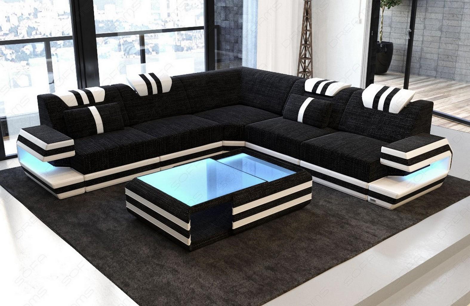 Samtstoff Eckcouch Polsterstoff Sofa Ragusa L Form Luxus