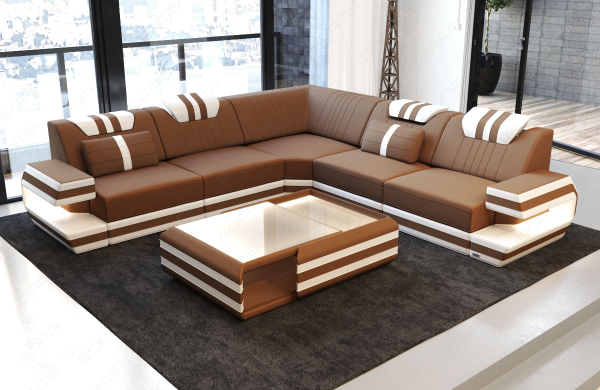 samtstoff eckcouch designer sofa ragusa l form luxus couch led beleuchtung usb ebay. Black Bedroom Furniture Sets. Home Design Ideas