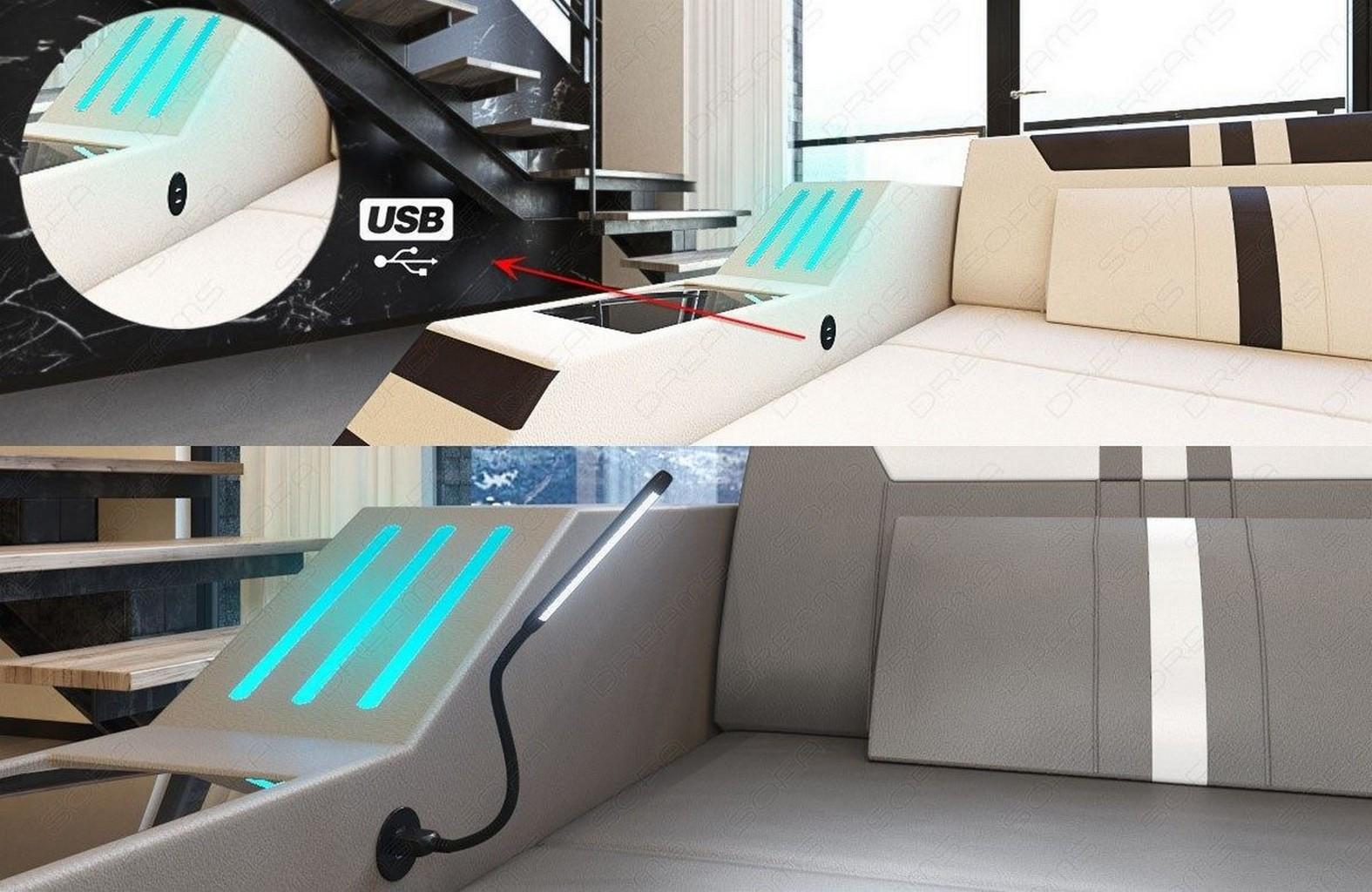 leather sectional sofa ravenna u shape corner sofa led. Black Bedroom Furniture Sets. Home Design Ideas