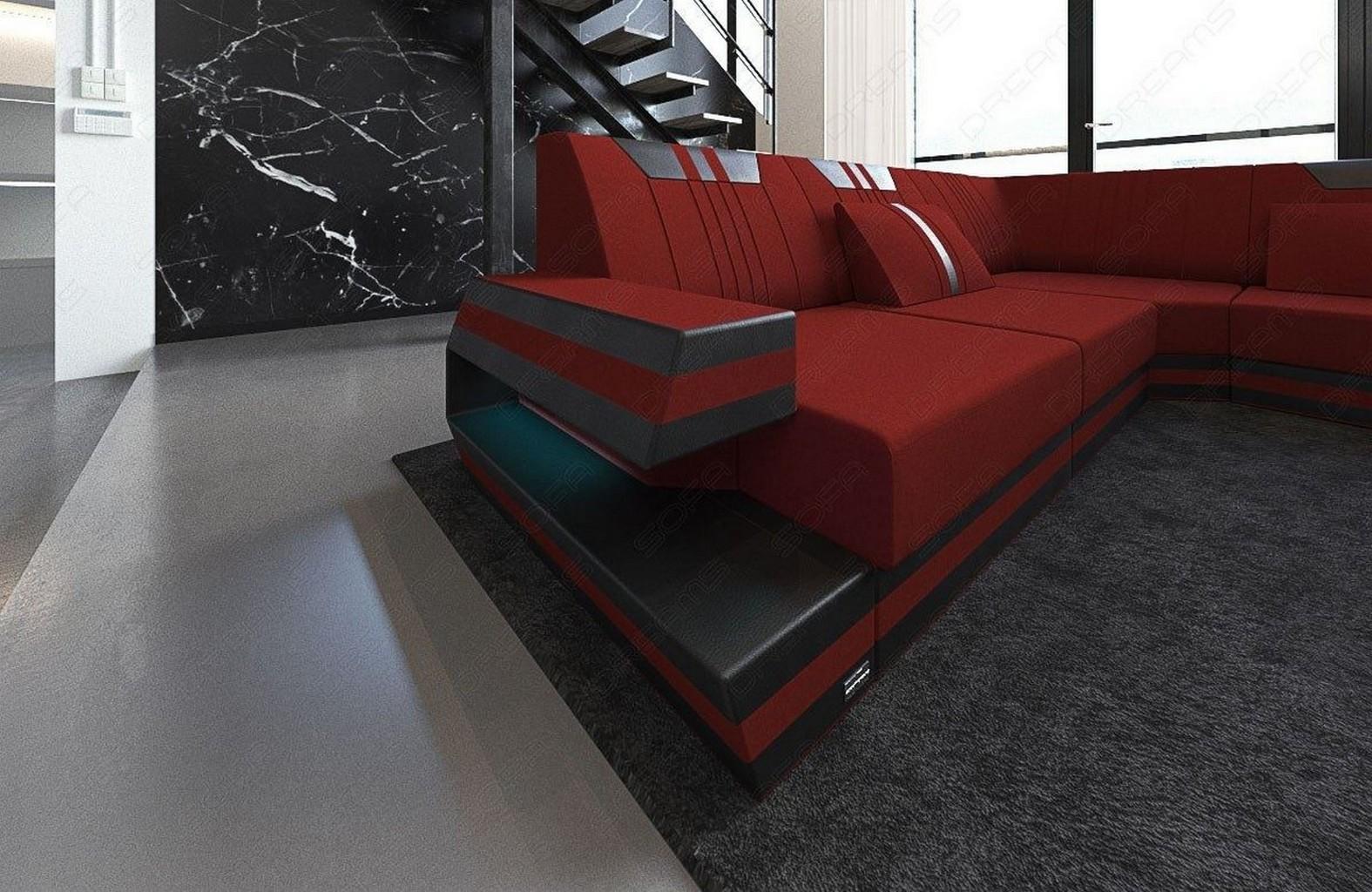 stoffsofa im stoff leder ravenna xl luxus wohnlandschaft. Black Bedroom Furniture Sets. Home Design Ideas