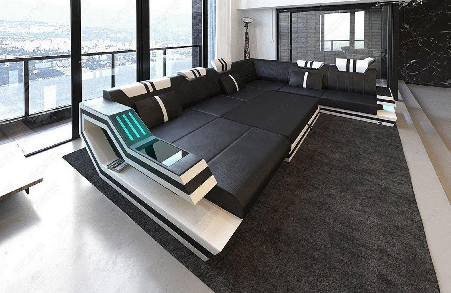 Sofá de tela gran sofá seccional Hollywood XL Sofá De
