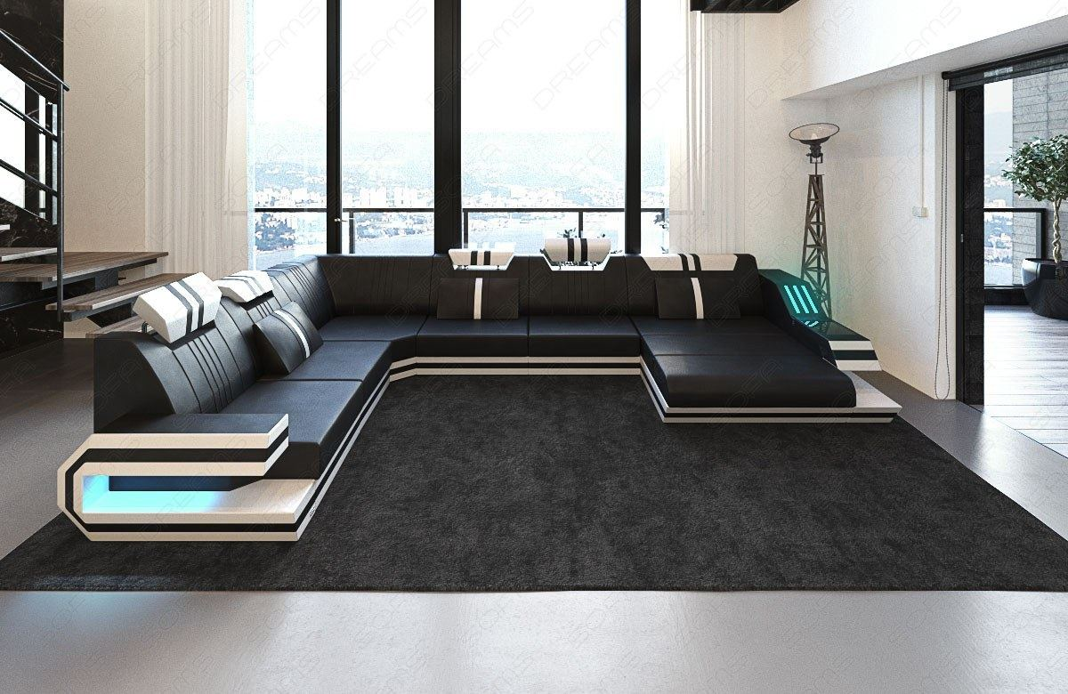 luxus designersofa ravenna xl form mit led beleuchtung. Black Bedroom Furniture Sets. Home Design Ideas