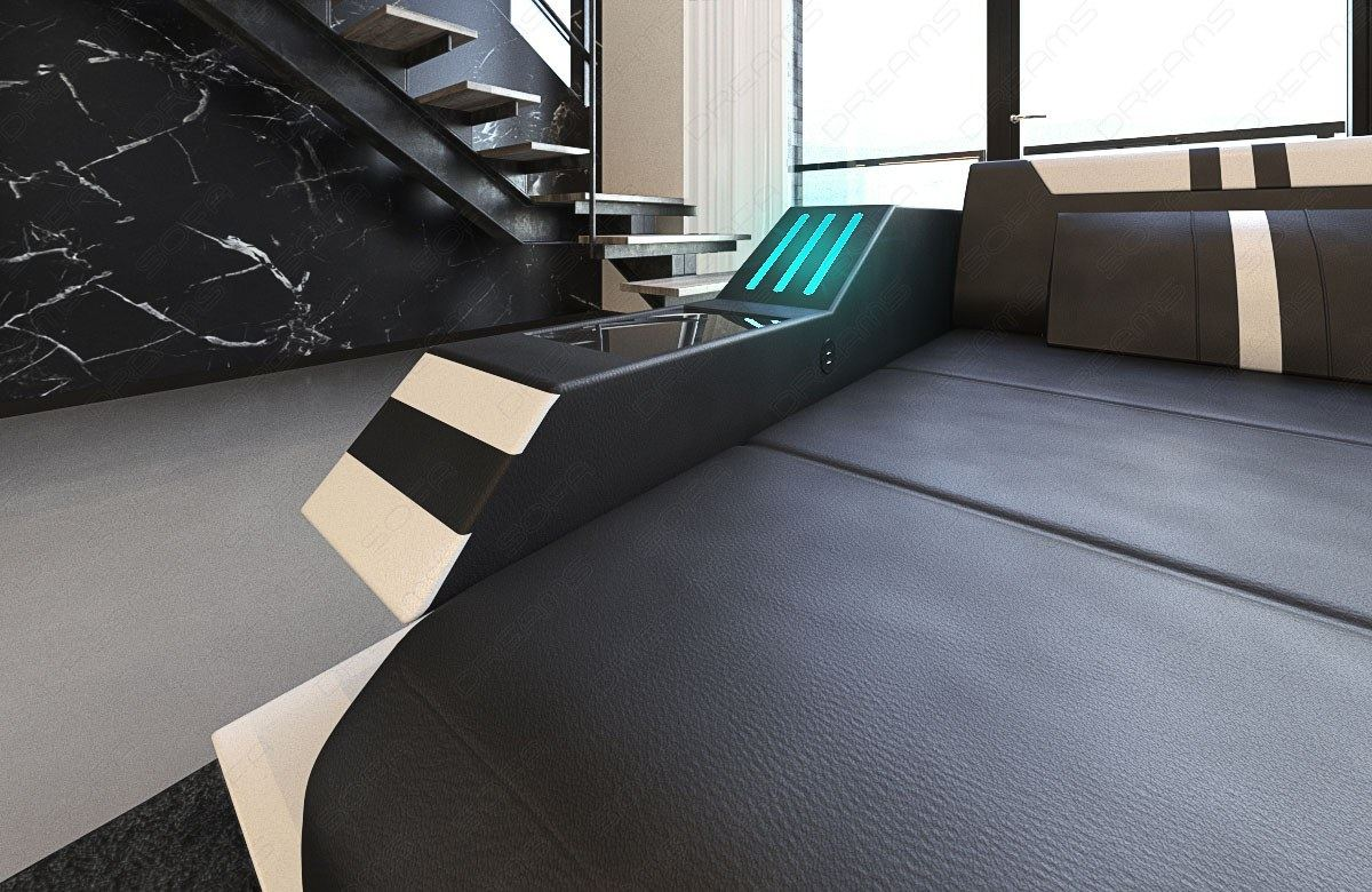 wohnlandschaft couch luxus ravenna xl beleuchtung ottomane. Black Bedroom Furniture Sets. Home Design Ideas