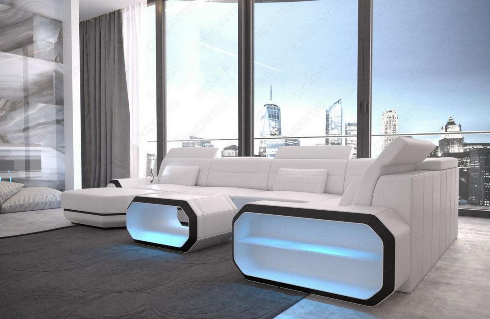 Wohnlandschaft xxl design ledercouch roma wohnzimmer for Wohnzimmer ledercouch