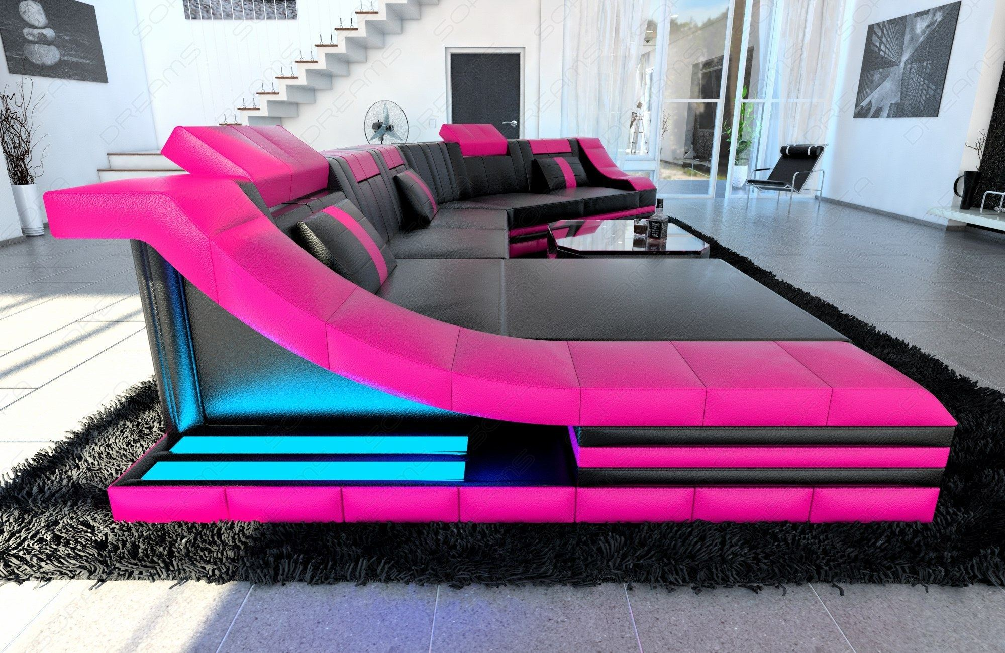 pink sectional sofa pink sectional sofa bonners furniture thesofa. Black Bedroom Furniture Sets. Home Design Ideas