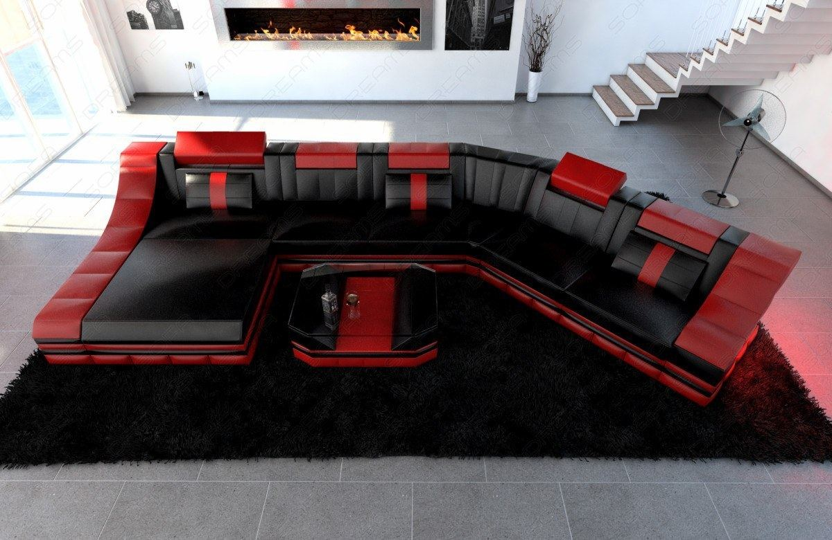 corner couch interior design turino cl with led light xl. Black Bedroom Furniture Sets. Home Design Ideas