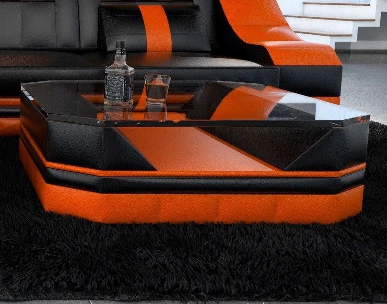 kunstleder wohnzimmertisch turino couchtisch beistelltisch. Black Bedroom Furniture Sets. Home Design Ideas