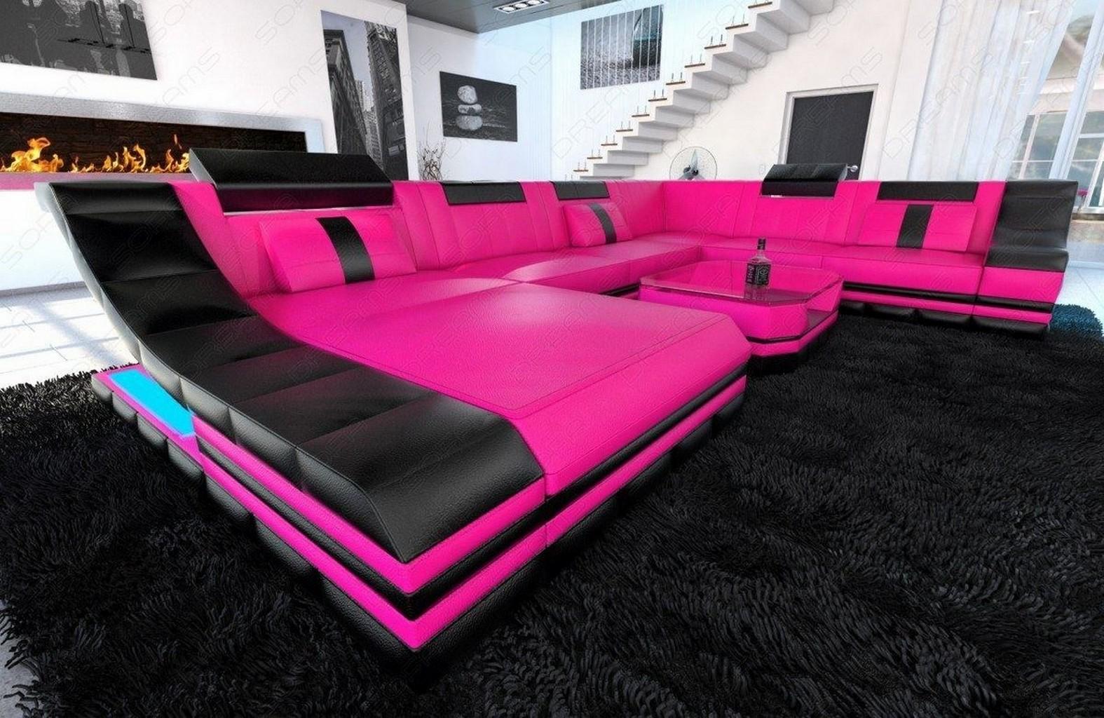 designer wohnlandschaft turino xxl luxus couch led. Black Bedroom Furniture Sets. Home Design Ideas