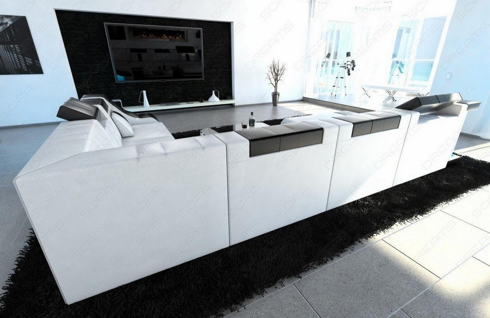 wohnlandschaft leder neuesten design. Black Bedroom Furniture Sets. Home Design Ideas