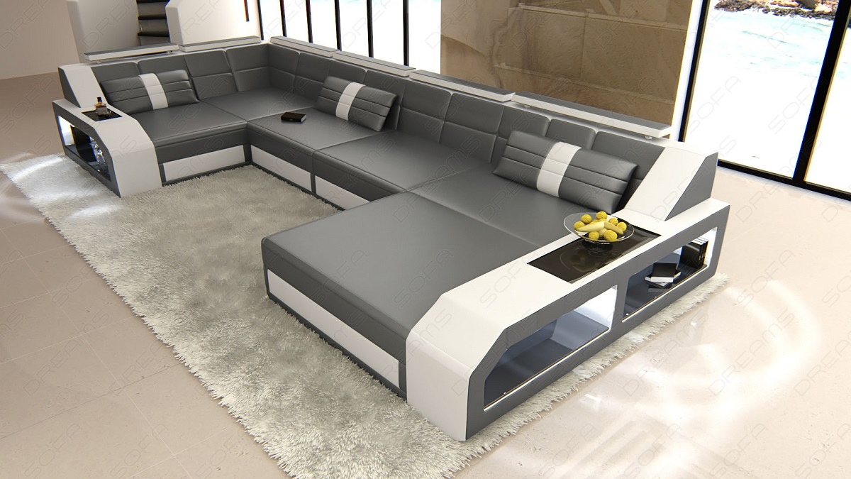 Sectional Sofa Turino U Shape With Led