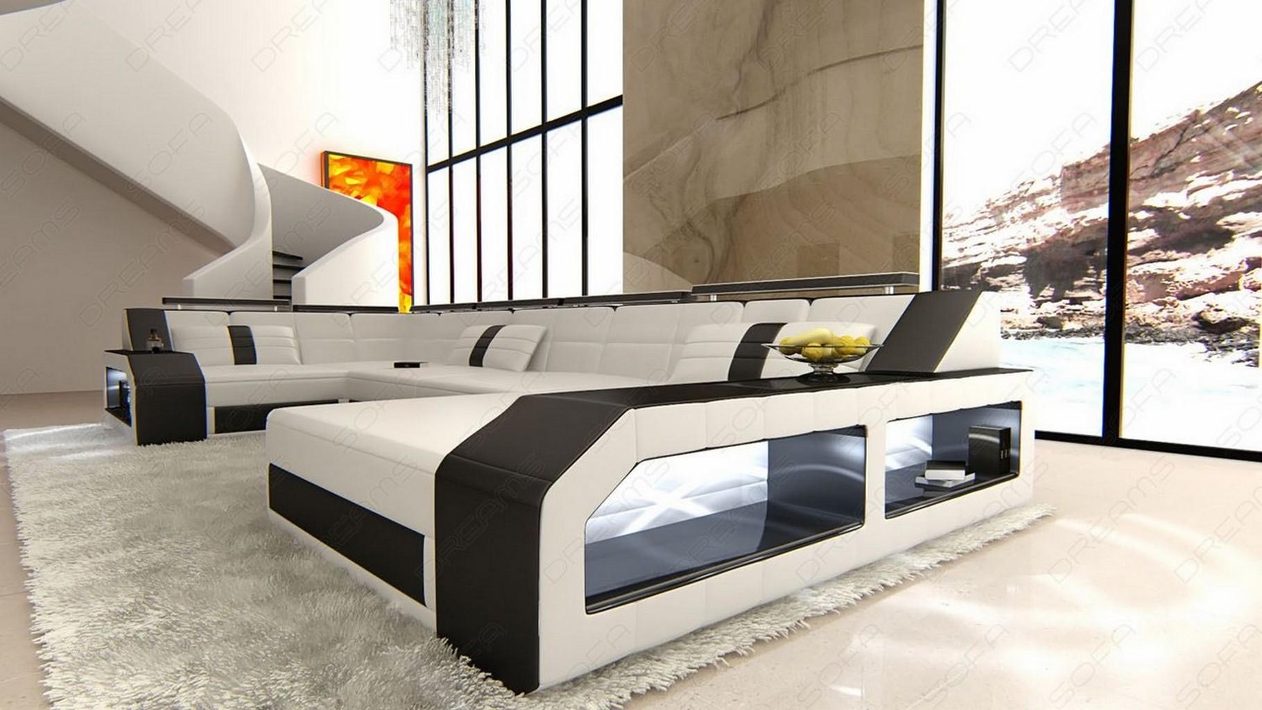 Wohnzimmer Mit Streifen Schwarz Wei Grau