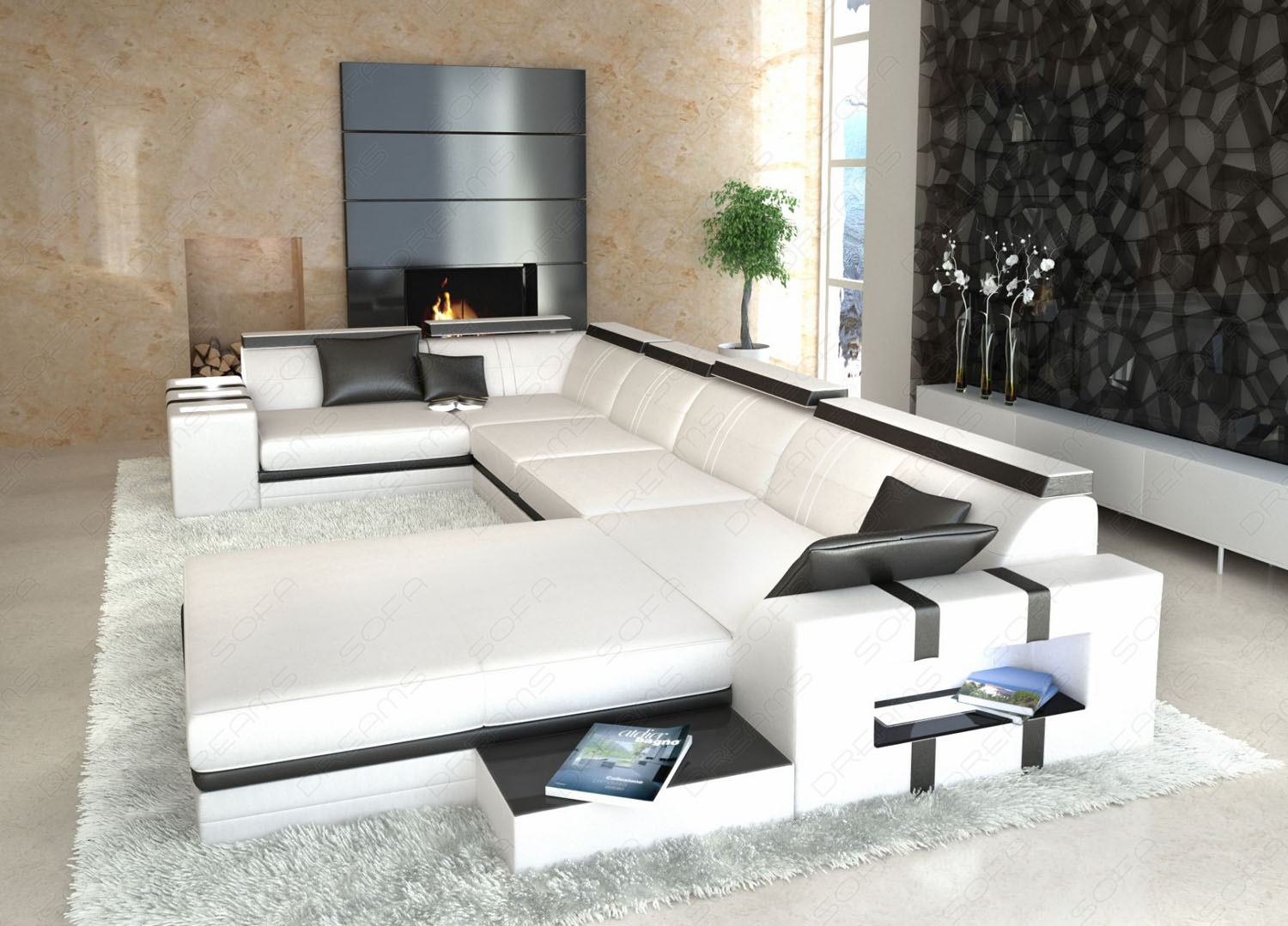 sofa u form kaufen innenr ume und m bel ideen. Black Bedroom Furniture Sets. Home Design Ideas