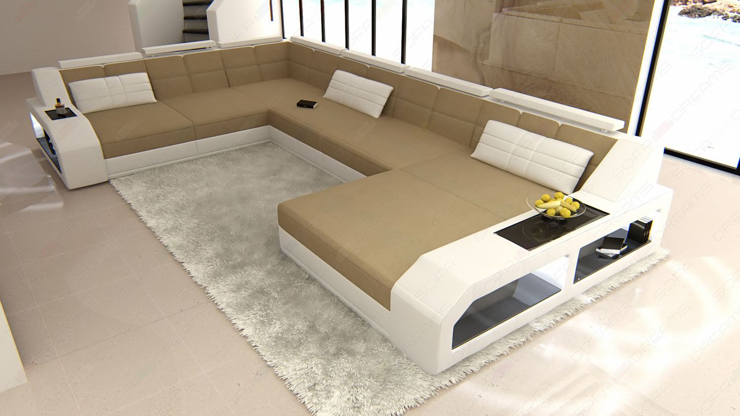 fabric sectional design sofa matera xxl sofa with led. Black Bedroom Furniture Sets. Home Design Ideas
