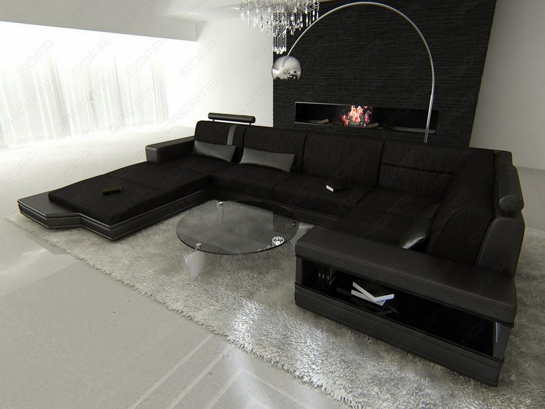 sofa u form stoff fabric sofa venice u shaped pads sofa dark gray leather fabric sectional. Black Bedroom Furniture Sets. Home Design Ideas