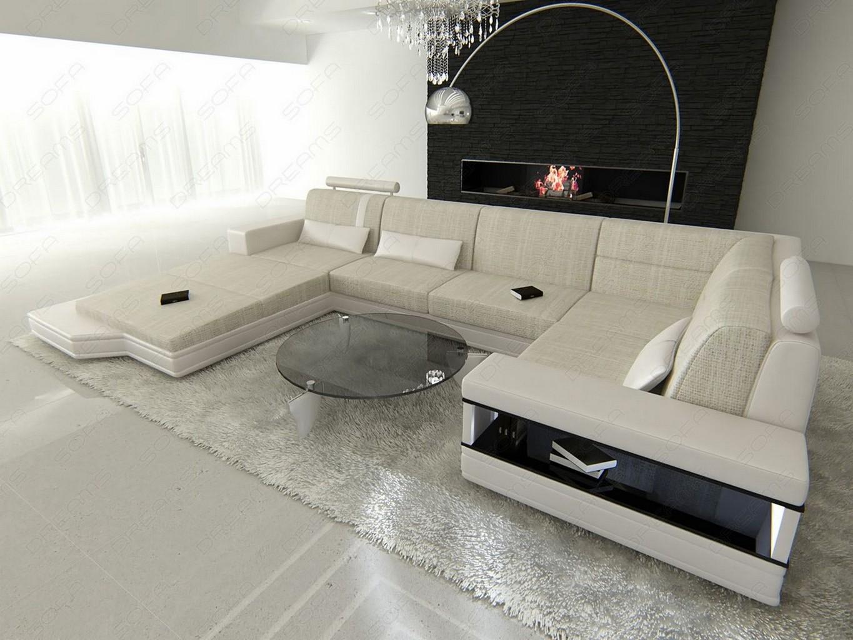 stoff wohnlandschaft messana u form stoffsofa im. Black Bedroom Furniture Sets. Home Design Ideas
