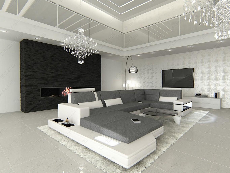 Fabric sectional design sofa messana u shaped with lights colour article description parisarafo Gallery