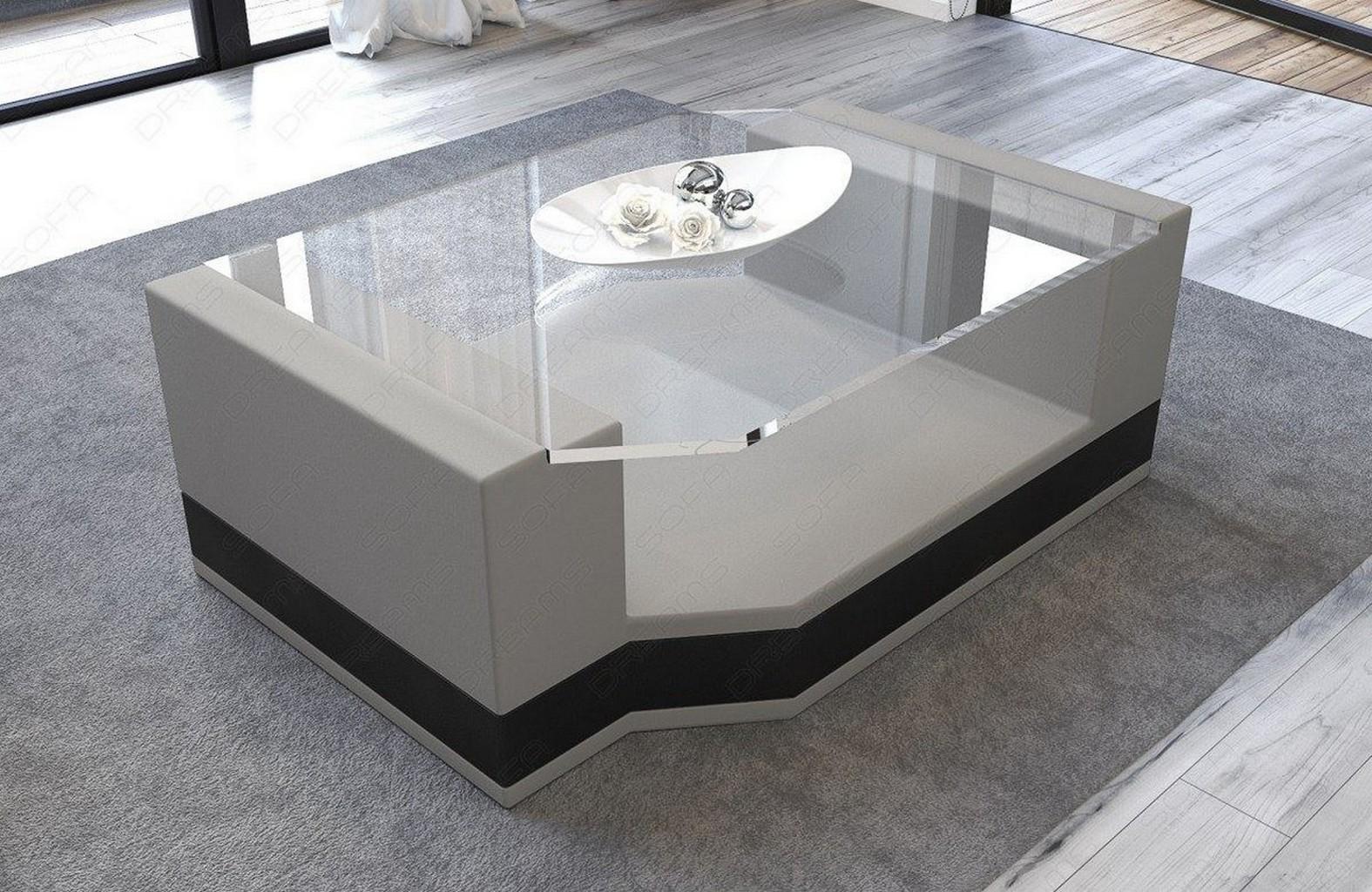 couchtisch wohnzimmertisch messana stoff leder mix beistelltisch esstisch farben ebay. Black Bedroom Furniture Sets. Home Design Ideas