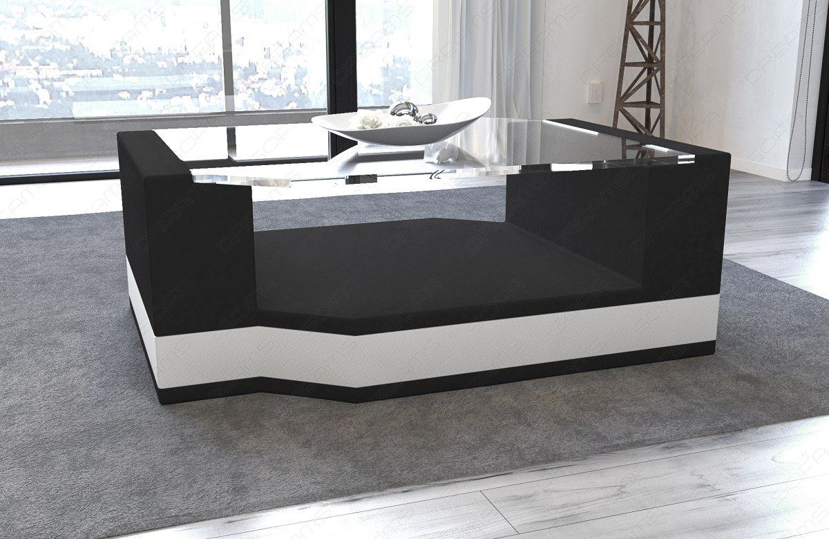 coffee table living room messana fabric leather mix side dining colours ebay. Black Bedroom Furniture Sets. Home Design Ideas