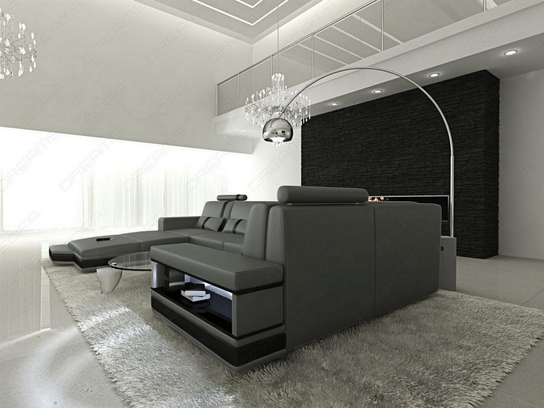 Couchgarnitur licht messana design wohnlandschaft sofa for Couchgarnitur italienisches design