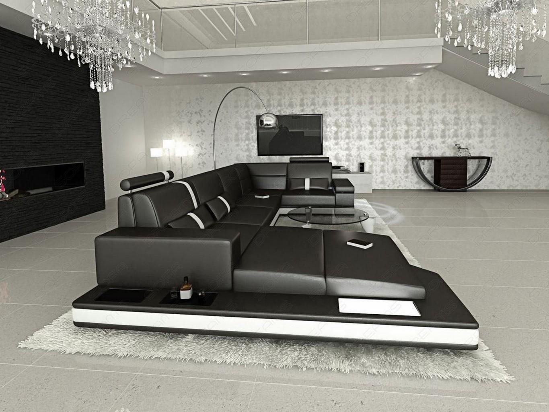 couchgarnitur wohnzimmer led messana design wohnlandschaft sofa ecksofa luxus ebay. Black Bedroom Furniture Sets. Home Design Ideas