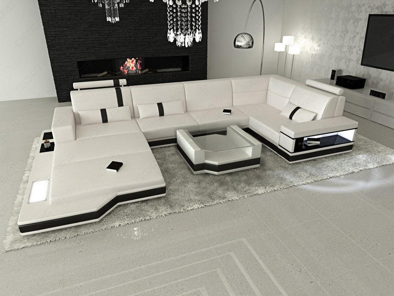ledersofa messana designer sofa wohnlandschaft licht ebay. Black Bedroom Furniture Sets. Home Design Ideas