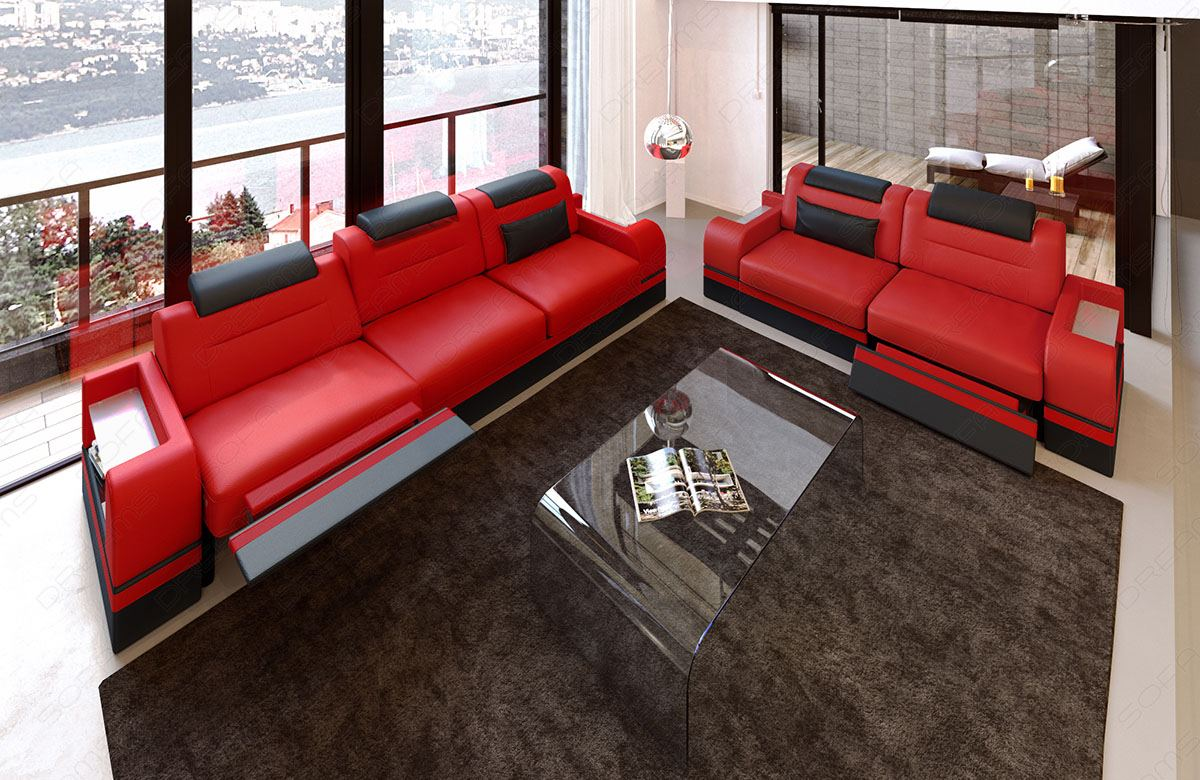 sofa in rot raum und m beldesign inspiration. Black Bedroom Furniture Sets. Home Design Ideas