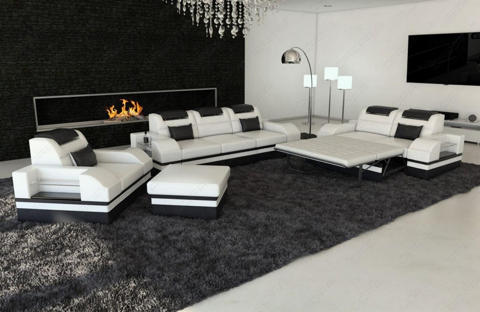 sofa set parma 3 2 chair led leather sofa orange. Black Bedroom Furniture Sets. Home Design Ideas
