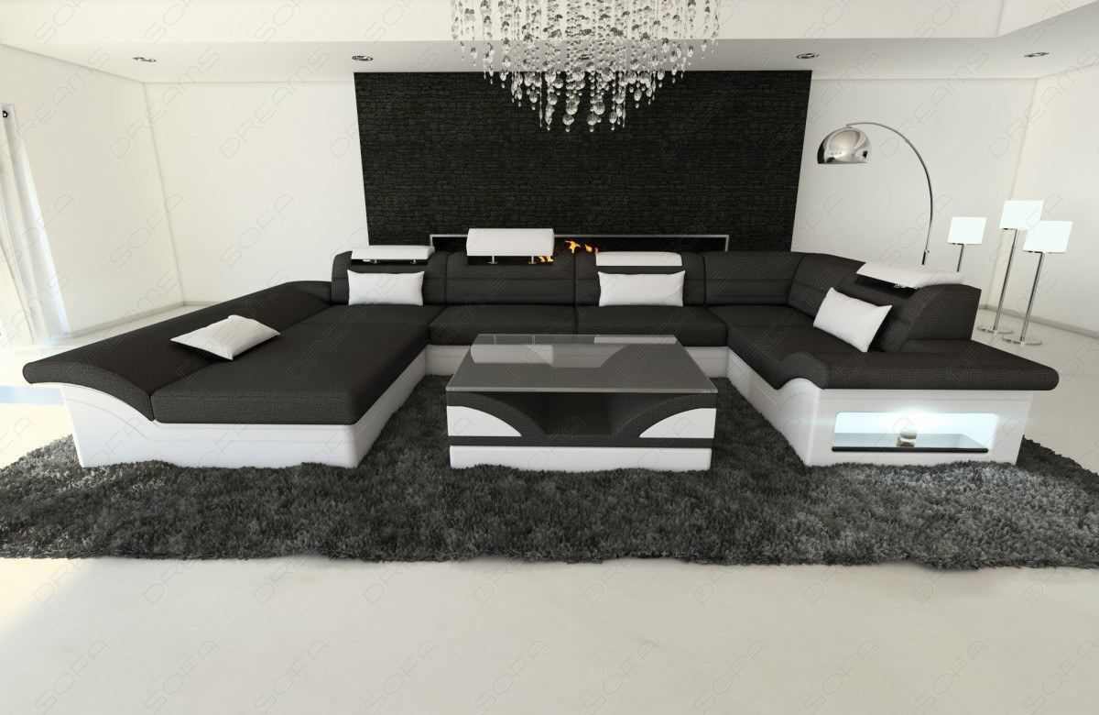 Designer couch leder  Sofa Mit Led. luxury design sectional sofa mezzo xxl with led ...