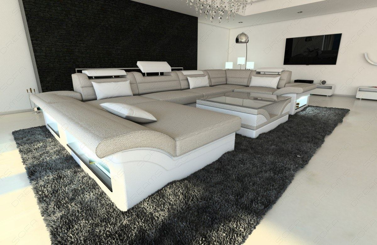 material mix fabric sofa enzo with led lights colour. Black Bedroom Furniture Sets. Home Design Ideas