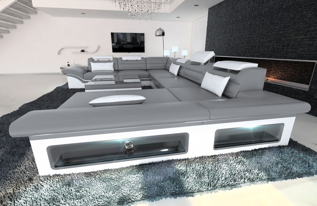 xxl sofa grau wohnlandschaft cardiff big sofa xxl ecksofa schwarz wei grau billion estates. Black Bedroom Furniture Sets. Home Design Ideas