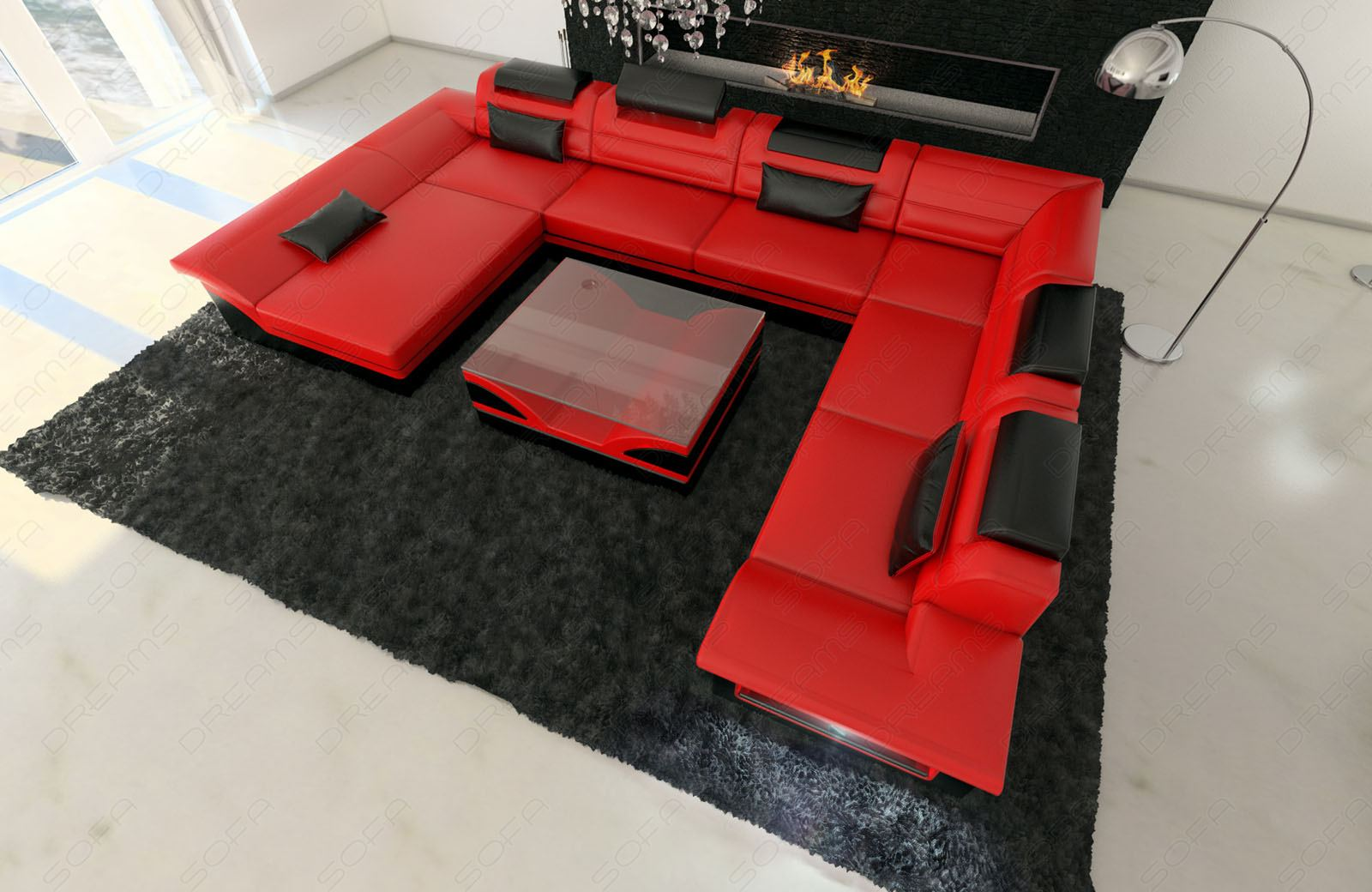 couchgarnitur moderne wohnlandschaft enzo xxl. Black Bedroom Furniture Sets. Home Design Ideas