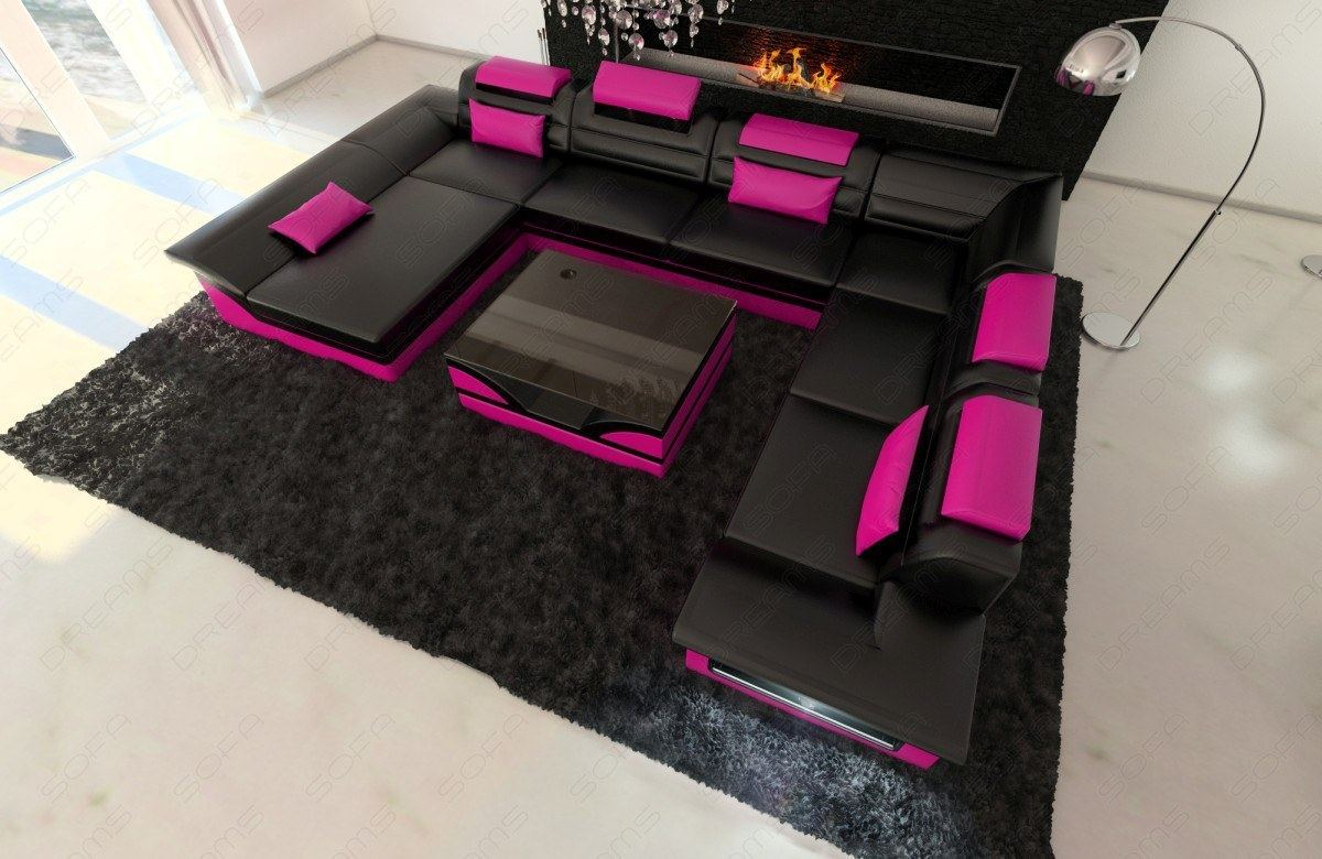 big sofa mit beleuchtung sofas ledersofa big sofa miami. Black Bedroom Furniture Sets. Home Design Ideas