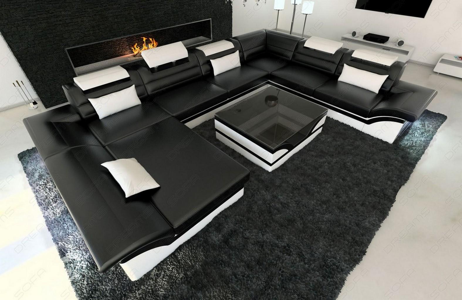 designer couch leder. Black Bedroom Furniture Sets. Home Design Ideas