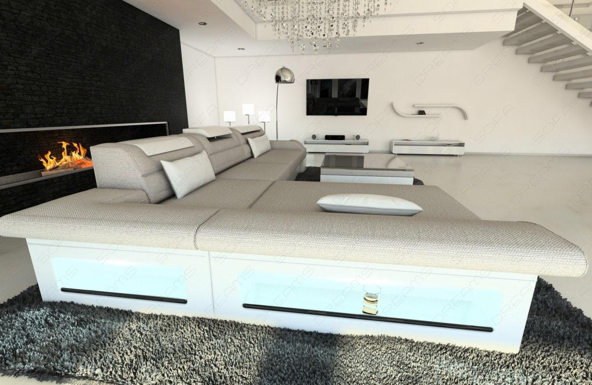wohnlandschaft stoff sofa monza l form couchgarnitur. Black Bedroom Furniture Sets. Home Design Ideas
