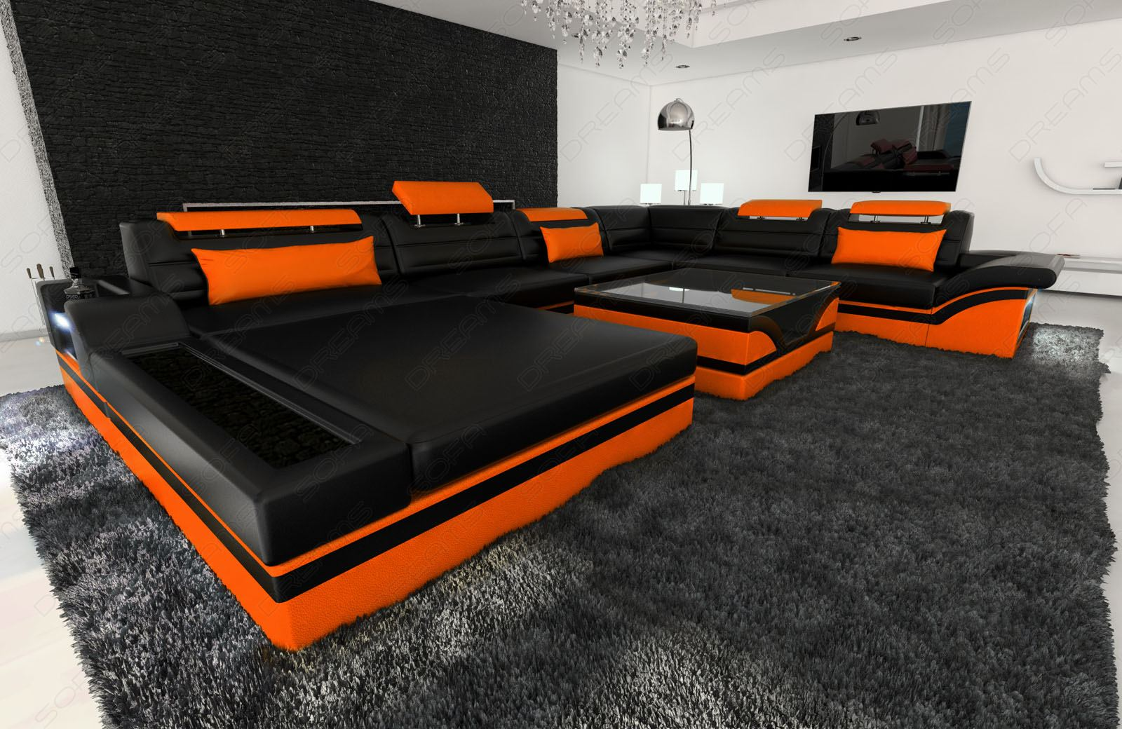 sofa mit led elegant big sofa great big sofa cool home. Black Bedroom Furniture Sets. Home Design Ideas