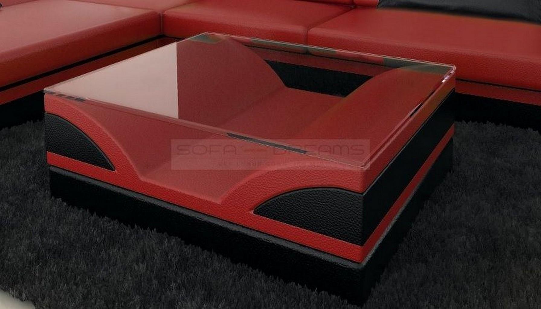 Designertisch couchtisch monza beistelltisch for Passende farbe zu rot