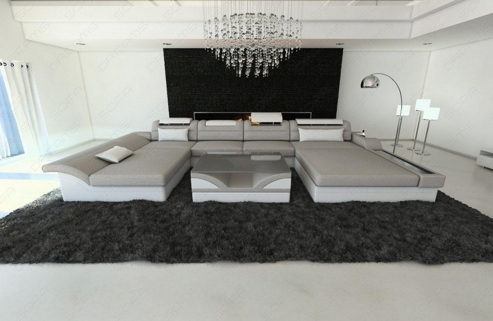 design polstersofa wohnlandschaft stoff monza u form. Black Bedroom Furniture Sets. Home Design Ideas
